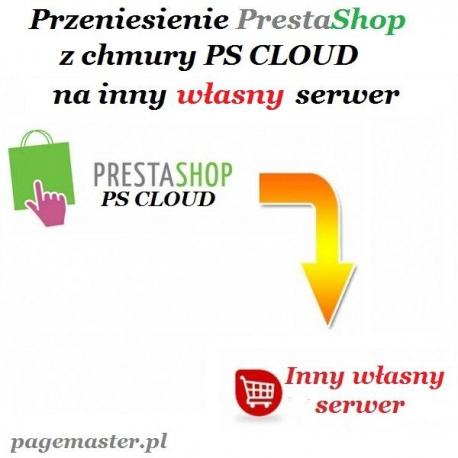 Przeniesienie sklepz z PS CLOUD na własny serwer