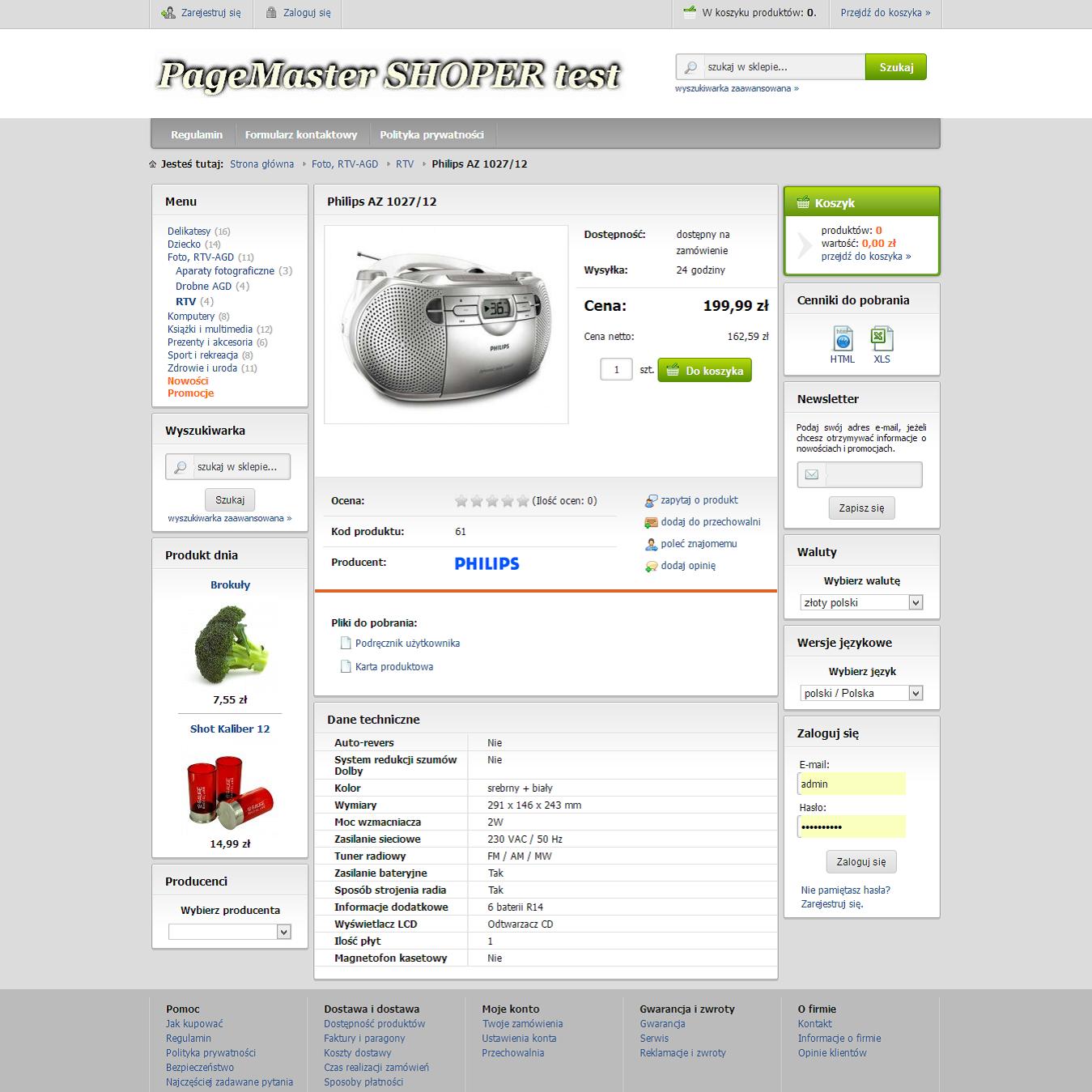 9f0475787dc26 Sklep Shoper pakiet Platynowy plus sklep Facebook - Page Master