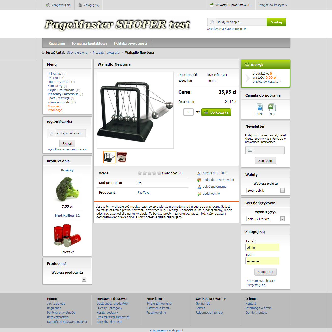 ca28c94be43b89 Sklep Shoper pakiet Srebrny - Page Master