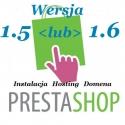 Sklep PrestaShop 1.5 1.6 instalacja i roczny hosting