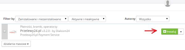 przelewy24 lista modułów